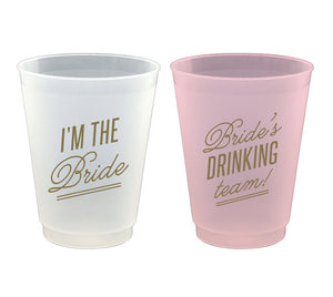 Bachelorette Party Frost Flex Cups - Eight 16 oz. Plastic Cups