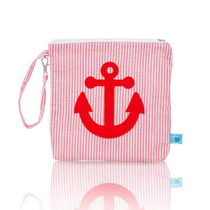 Nikiani Seersucker Snack Bag - Red Anchor
