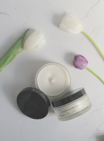 soy candle clean candle rose candle soy wax