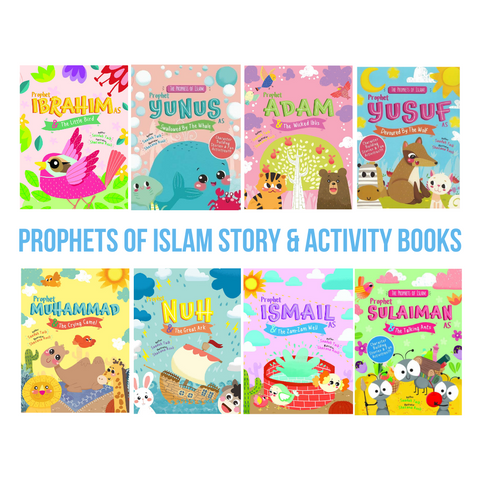 Bundle: 8 x Prophets of Islam Story & Activity Books (Set of 8 Books)