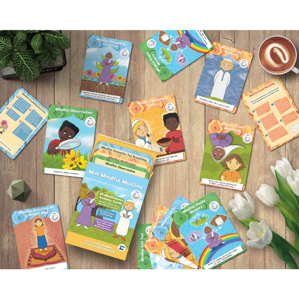 Flashcards 25 Pack Islamic Mindfulness Activities for Children – Calm, Positivity, Focus