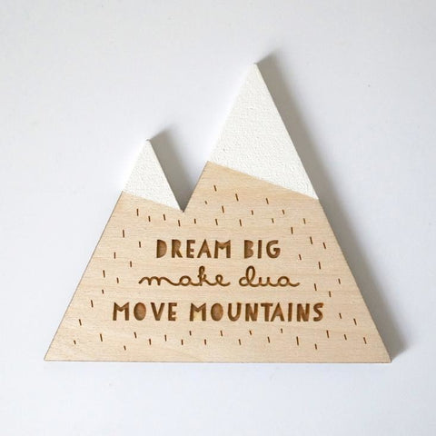 Dream Big & Make Dua Mountain Wall Decor