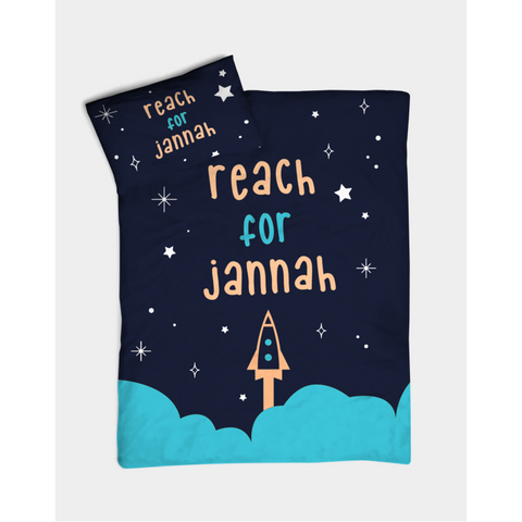 Lila & Tiny: Reach for Jannah Bedding (Blue)