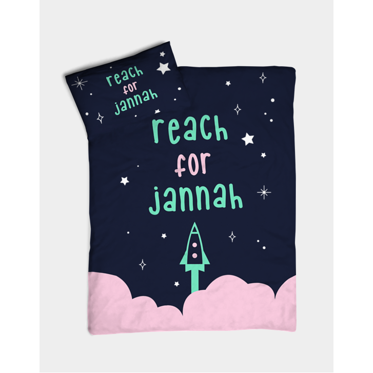 Lila & Tiny: Reach for Jannah Bedding (Pink)