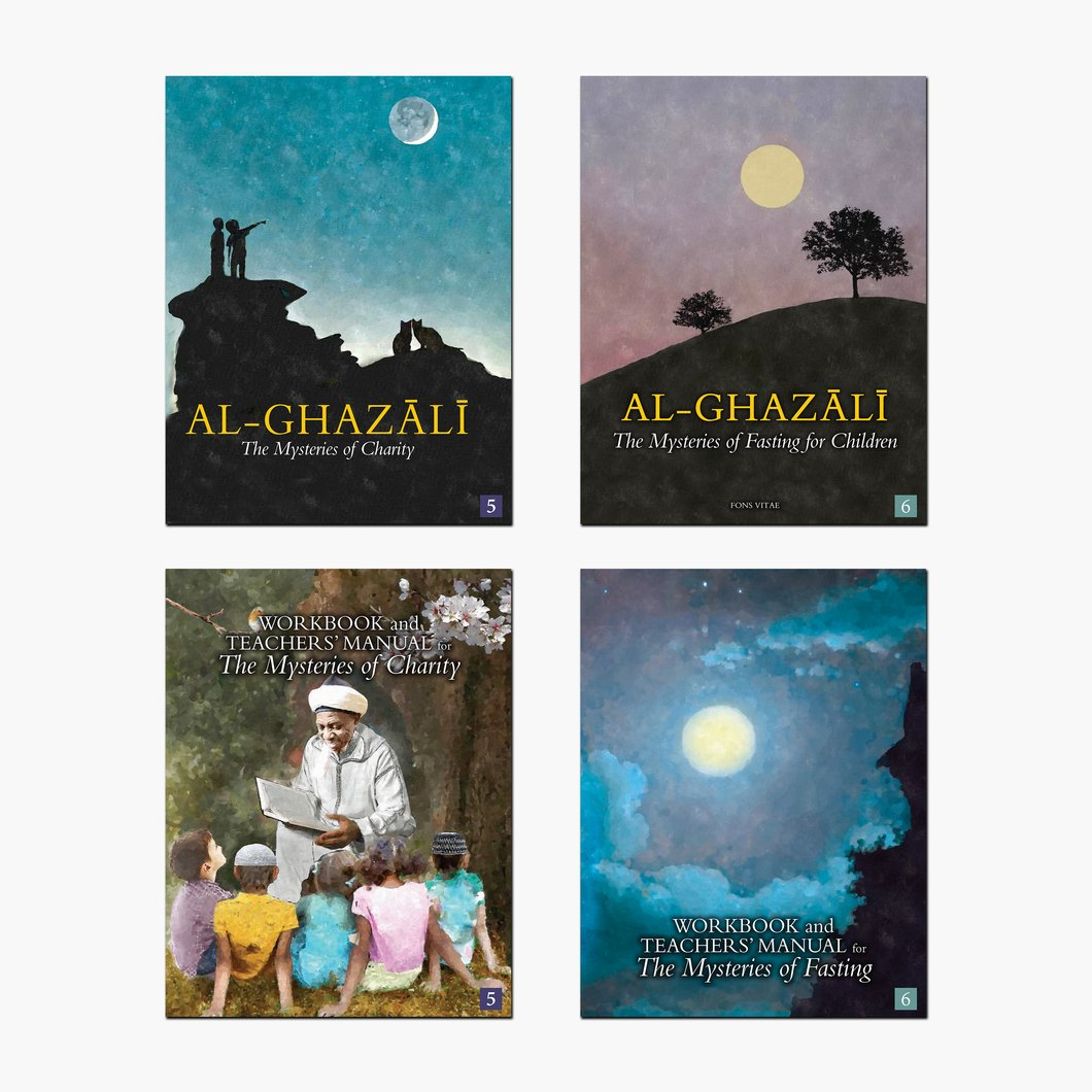 Al-Ghazali Sets 5 and 6: The Mysteries of Charity & Fasting for Children - Set of 4 Books