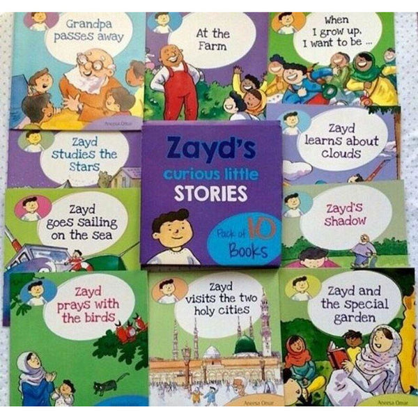 Zayd's Curious Little Stories: Set of 10 books
