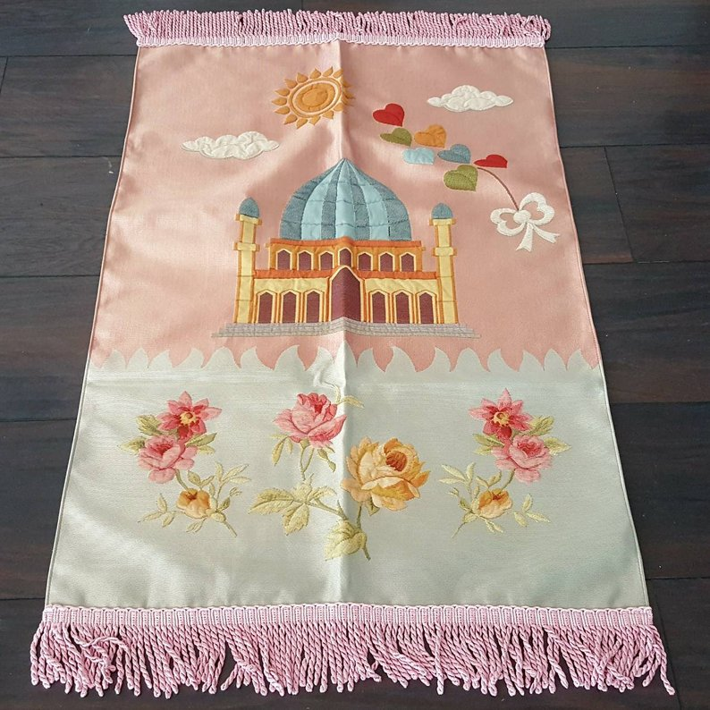 Royal Sejadah - Kids' Luxury Pink Prayer Mat / Rug