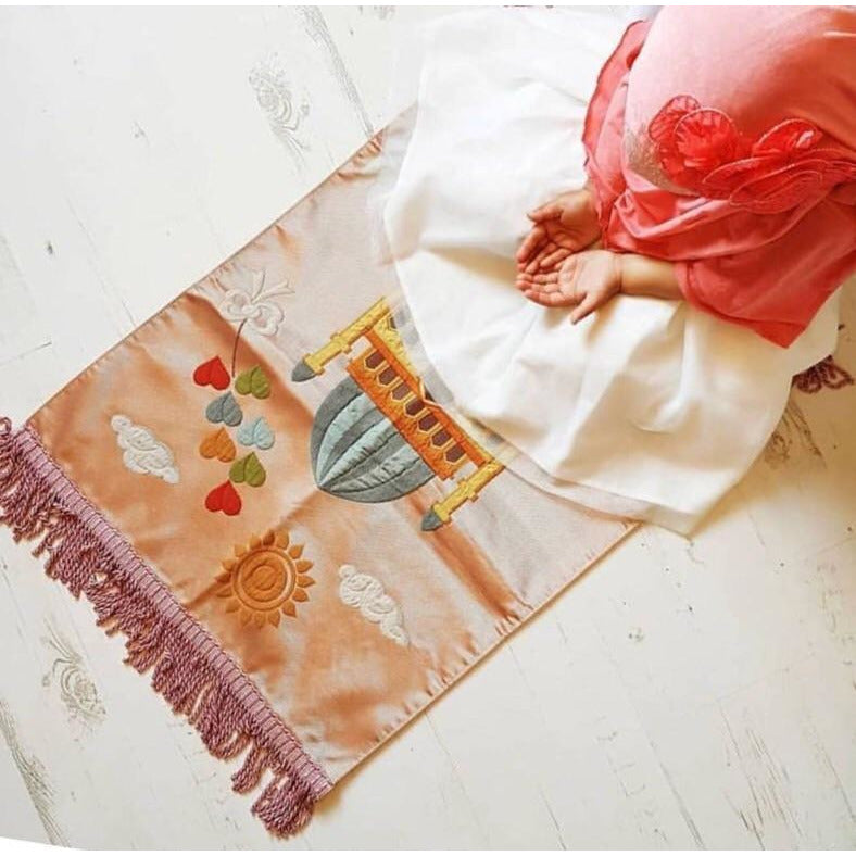 Royal Sejadah - Kids' Luxury Prayer Mat - Pink