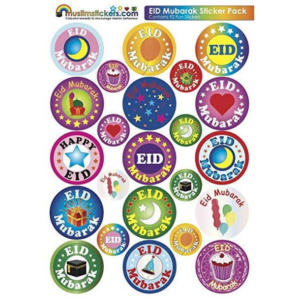 Eid Stickers (92 Assorted Stickers)