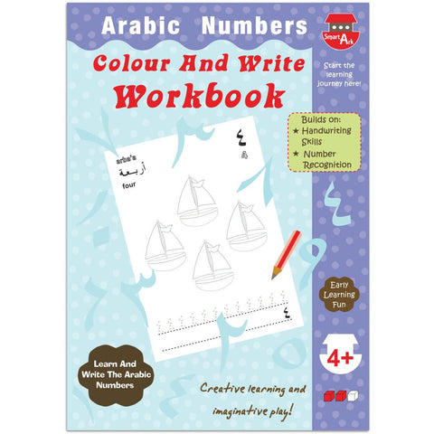 Arabic Numbers: Colour and Write Workbook