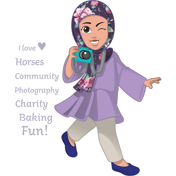 Salam Sisters: Yasmina - storyteller, loves horses, budding photographer