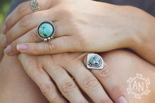 In Orbit Ring // Cloud Mountain Turquoise & Mixed Metals // US Size 6.5