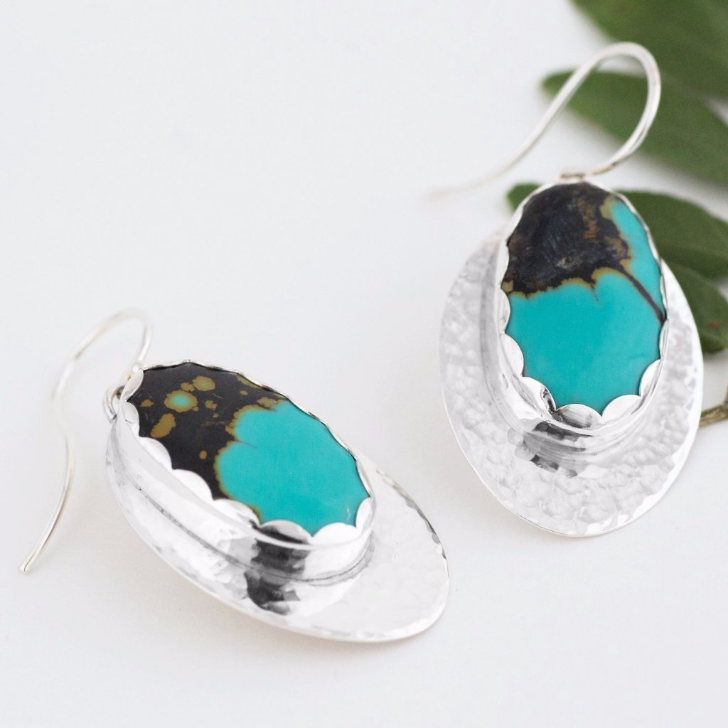 Tide Pools Earrings // Silver & Hubei Turquoise Earrings