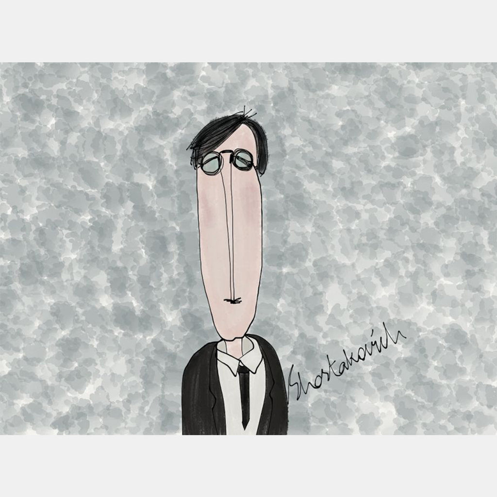 SHOSTAKOVICH - Crazy Composers Ekin Büyükşahin Illustration