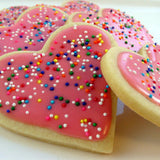 heart iced biscuit