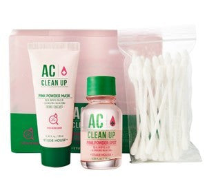 [ETUDE HOUSE] AC CLEAN UP PINK POWDER SPOT SET