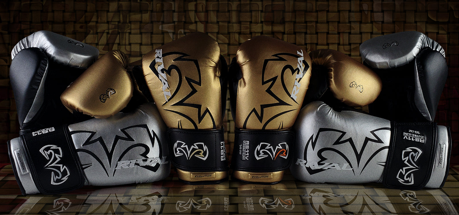 Rival RS100 Professional Sparring Gloves Green/Gold