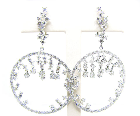 White Gold White Diamond Earrings