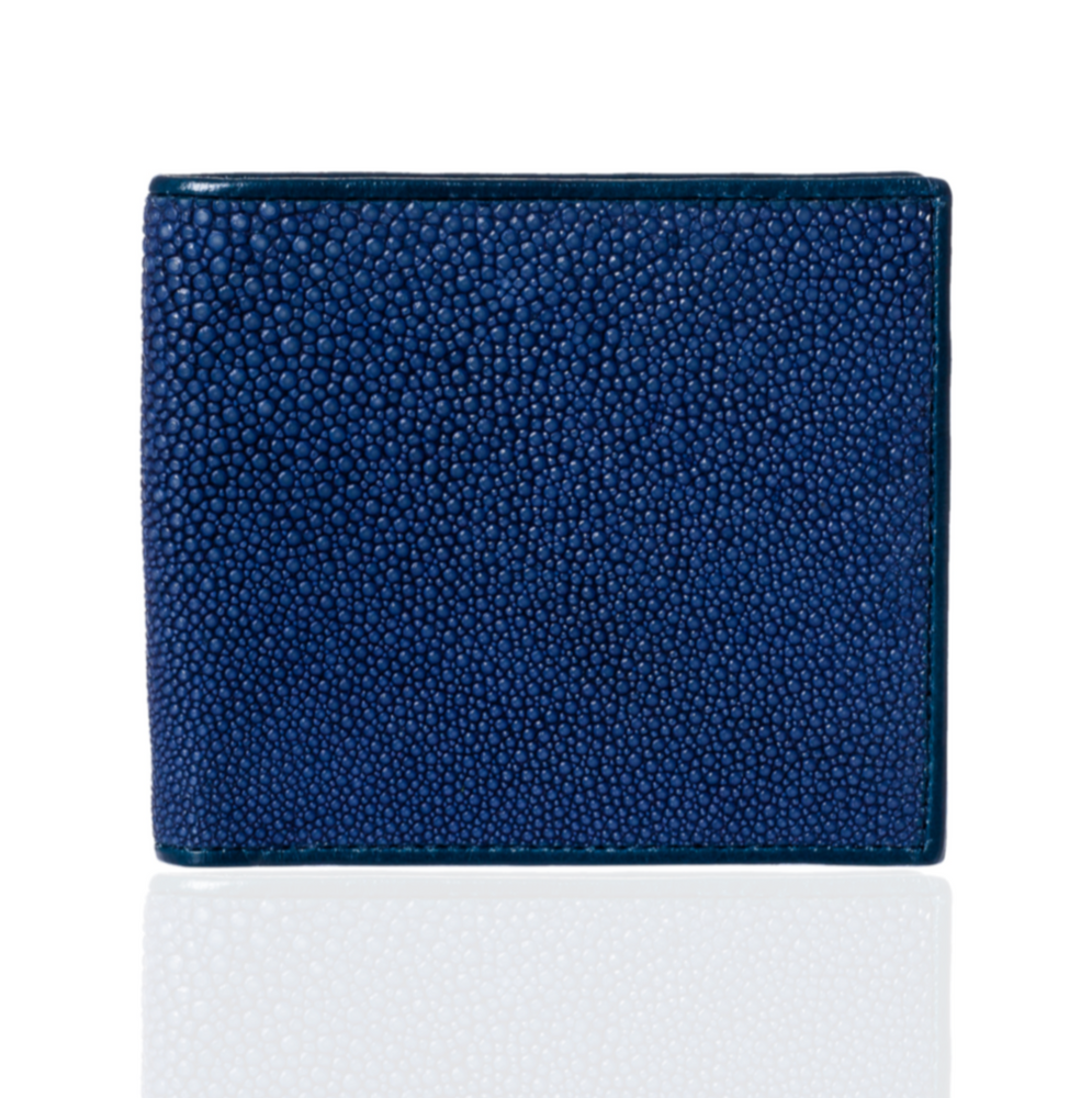 Blue and Brown Stingray Leather Wallet