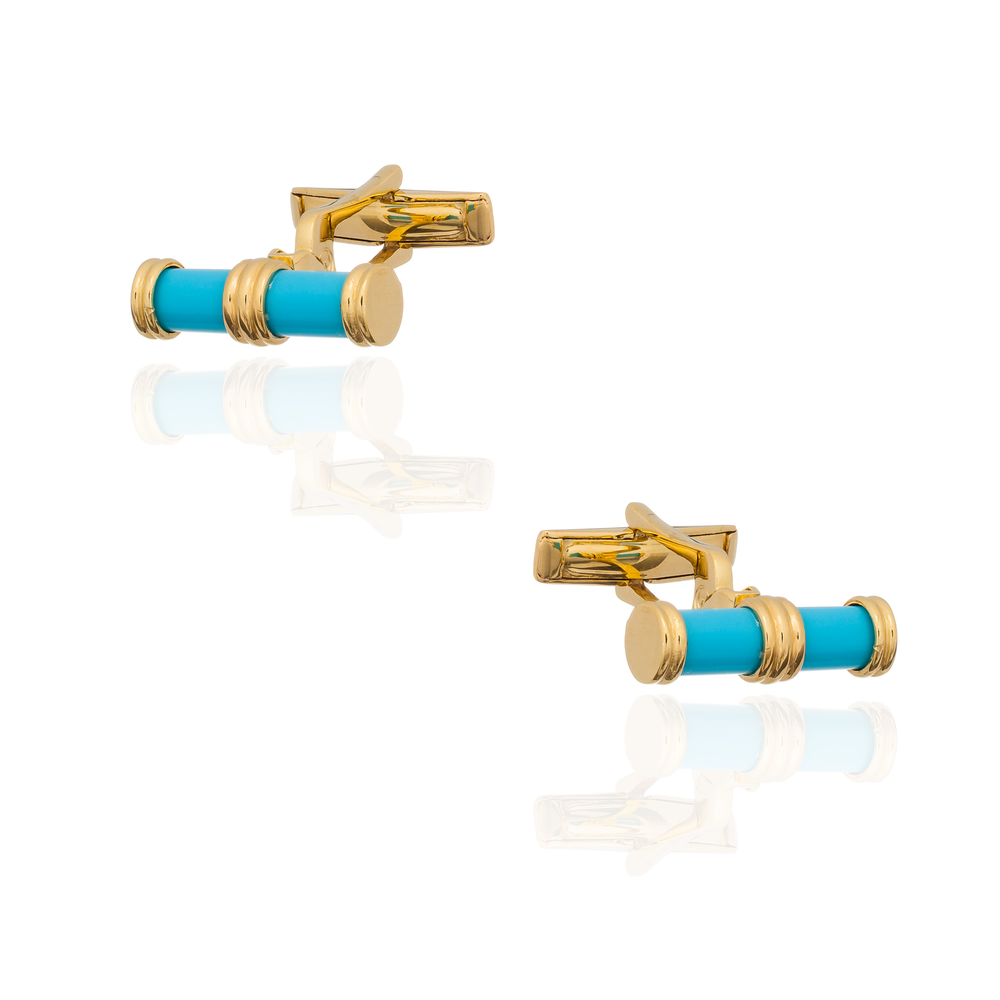 925 Silver Cufflinks with Turquoise