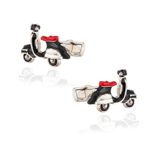Load image into Gallery viewer, 925 Silver Vespa Cufflinks