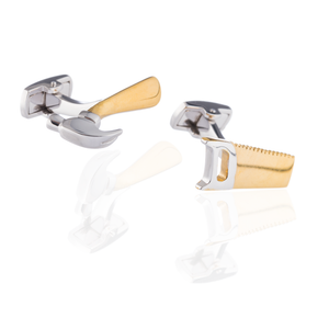 Load image into Gallery viewer, 925 Silver Hammer & Saw Cufflinks