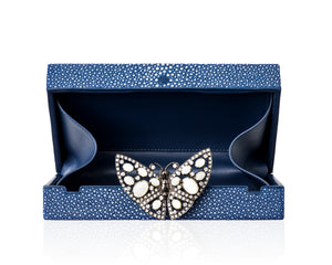 Load image into Gallery viewer, Black Stingray Butterfly Purse