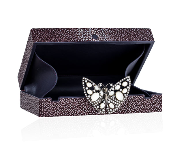 Black Stingray Butterfly Purse