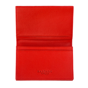 Bright Red Stingray Leather Credit Card Case