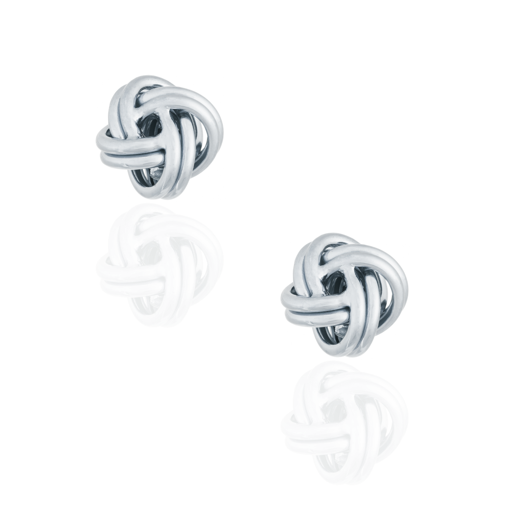 Load image into Gallery viewer, 925 Silver Knot Cufflinks