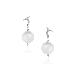 18K White Gold Earrings with Pearls