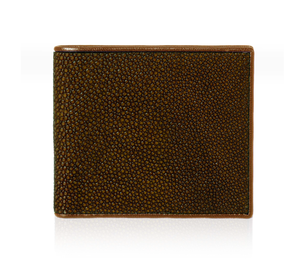 Light Brown Stingray Leather Wallet