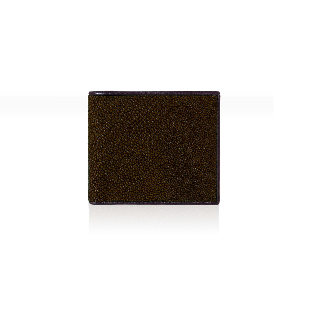 Black Stingray Leather Wallet