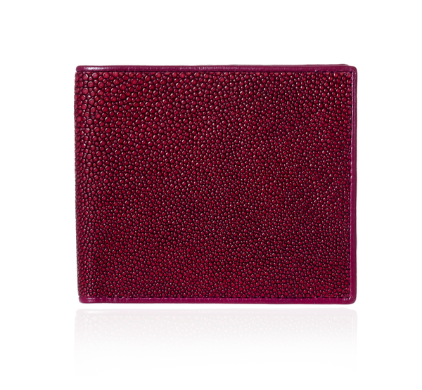 Burgundy Stingray Leather Wallet