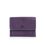 Purple Stingray Leather Credit Card Case