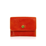 Orange Stingray Leather Credit Card Case