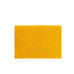 Yellow Stingray Leather Credit Card Case