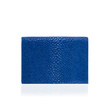 Blue Stingray Leather Credit Card Case