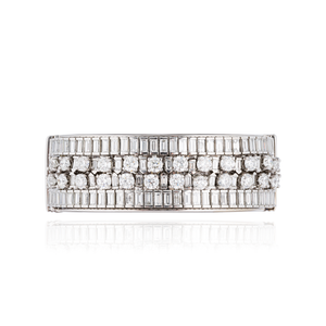 Load image into Gallery viewer, 18K White Gold Bracelet with White Diamonds