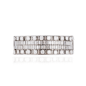 18K White Gold Bracelet with White Diamonds