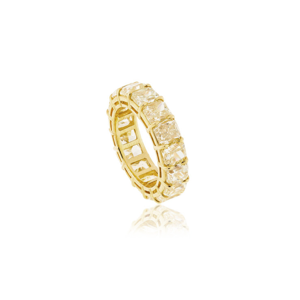 Load image into Gallery viewer, Yellow Diamond Eternity Ring
