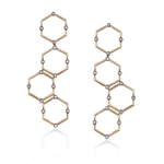 14k Rose Gold Earrings with White Diamonds