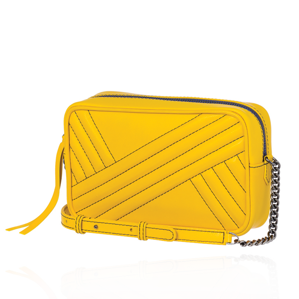 Handbag in Yellow Leather