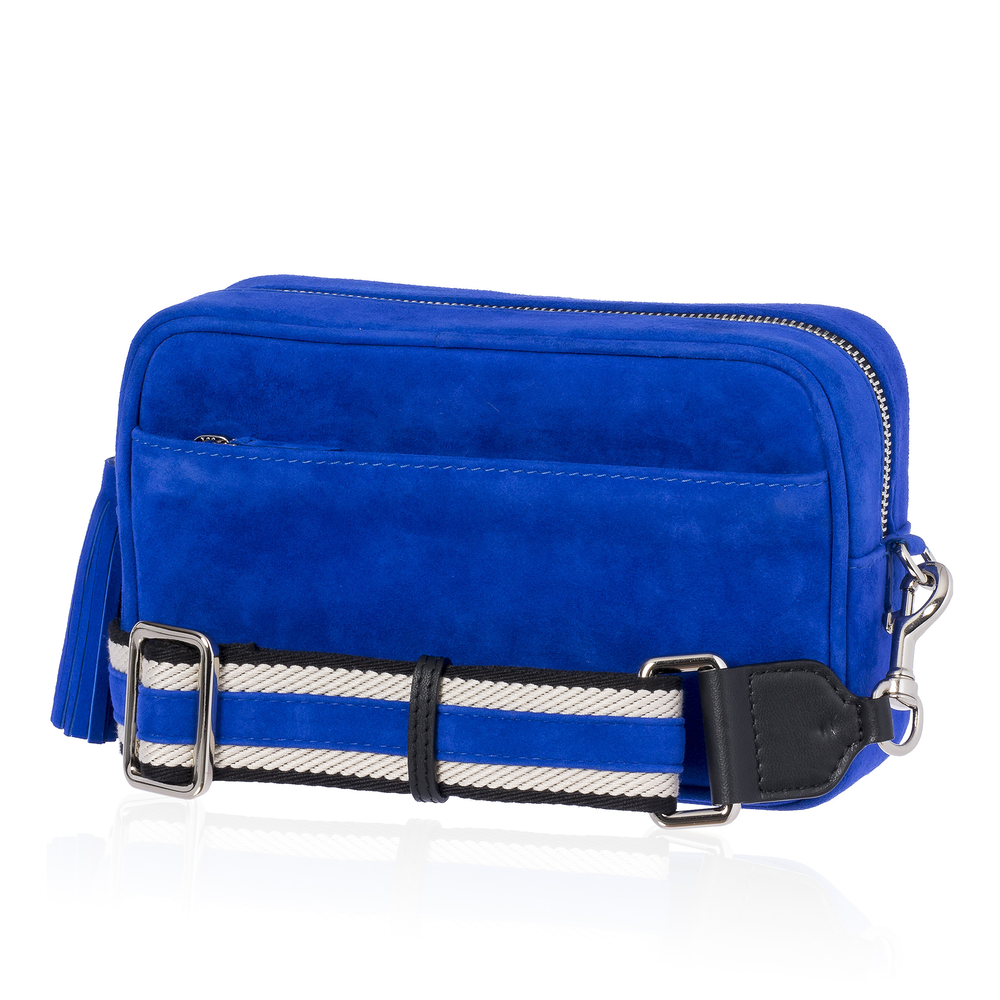 Load image into Gallery viewer, Blue Suede Bag