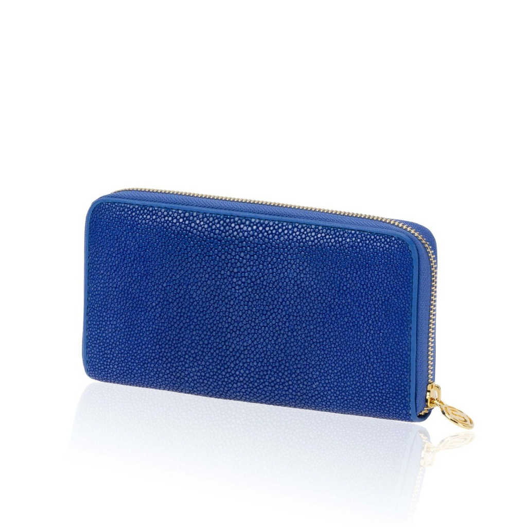 Wallet in Blue Stingray Leather