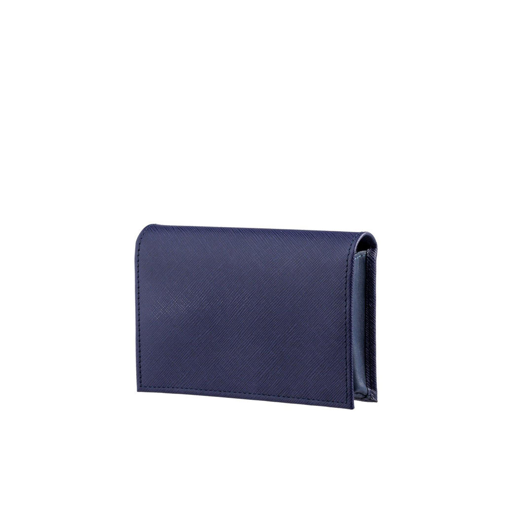 Small Wallet in Blue Textured Leather