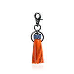 Keyring Tassel in Orange with Blue Stingray Leather