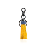 Keyring Tassel in Yellow with Blue Stingray Leather