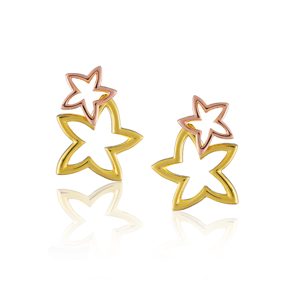 Load image into Gallery viewer, 925 Silver Double Starfish Earrings