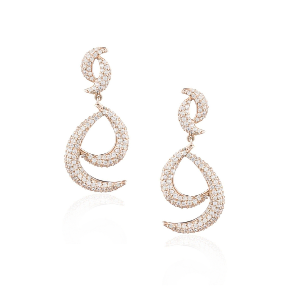 925 Silver Earrings with White Sapphires